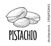 pistachio nut with and without... | Shutterstock .eps vector #1906933441