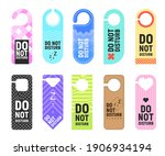 do not disturb vector signs of... | Shutterstock .eps vector #1906934194
