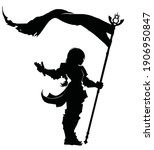 A Black Silhouette Of A Little...