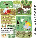 garden  agriculture and farm... | Shutterstock .eps vector #1906951501