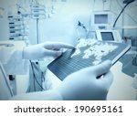 doctor and technology. digital... | Shutterstock . vector #190695161