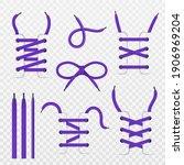 shoelace tying. realistic...   Shutterstock .eps vector #1906969204