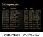 airport led board. aircrafts... | Shutterstock .eps vector #1906969267