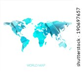 world map illustration | Shutterstock . vector #190697657