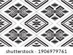 seamless monochrome geometric... | Shutterstock .eps vector #1906979761