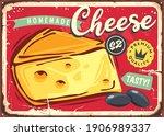 delicious cheese vintage tin... | Shutterstock .eps vector #1906989337