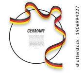 waving ribbon flag of germany...   Shutterstock .eps vector #1906994227
