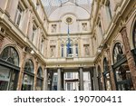 Belgium, the picturesque Galeries Royales Saint Hubert of Brussels