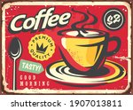 coffee sign in retro style....   Shutterstock .eps vector #1907013811