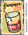 summer joy tropical theme with... | Shutterstock .eps vector #1907019124