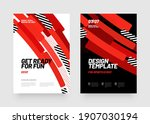 design of posters with red... | Shutterstock .eps vector #1907030194