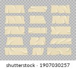 set of transparent adhesive... | Shutterstock .eps vector #1907030257