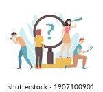 cartoon color characters people ... | Shutterstock .eps vector #1907100901