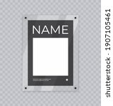 poster mockup in acrylic frame  ... | Shutterstock .eps vector #1907105461