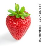 strawberry isolated on white... | Shutterstock . vector #1907107864