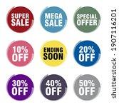super sale mega sale special... | Shutterstock .eps vector #1907116201
