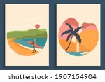 abstract coloful landscape... | Shutterstock .eps vector #1907154904