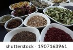 dried medicinal aromatic herbs... | Shutterstock . vector #1907163961
