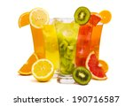 a row of colorful juices | Shutterstock . vector #190716587