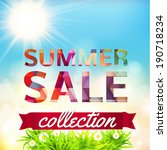 summer sale collection. vector... | Shutterstock .eps vector #190718234