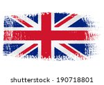 brushstroke flag united kingdom ... | Shutterstock .eps vector #190718801