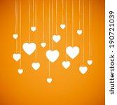 summer orange and white heart... | Shutterstock .eps vector #190721039