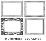 silver picture frame isolated... | Shutterstock . vector #190722419