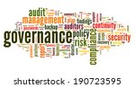 governance and compliance in...   Shutterstock . vector #190723595