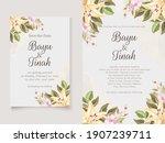 beautifull wedding invitation... | Shutterstock .eps vector #1907239711