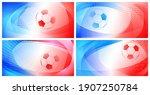 set of four football or soccer... | Shutterstock .eps vector #1907250784