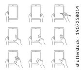 illustration set of hands... | Shutterstock .eps vector #1907258014