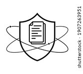 shield with document icon.... | Shutterstock .eps vector #1907263951
