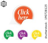 click here over colorful circle ... | Shutterstock .eps vector #190728125