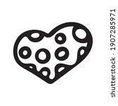 hand drawn valentine day heart... | Shutterstock .eps vector #1907285971