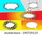 comic template vector    Shutterstock .eps vector #190729115