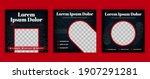 black food and restaurant... | Shutterstock .eps vector #1907291281