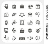 business and finance icons set | Shutterstock .eps vector #190729301