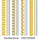 set of realistic vector gold... | Shutterstock .eps vector #190729304