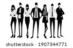 vector material  silhouettes of ...   Shutterstock .eps vector #1907344771