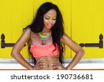 tropical summer holiday fashion ...   Shutterstock . vector #190736681