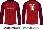 sports jersey t shirt design... | Shutterstock .eps vector #1907369971