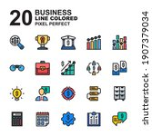 icon set of business. line...