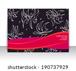 flyer  leaflet  booklet layout. ... | Shutterstock .eps vector #190737929