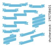set of blue different ribbons   ... | Shutterstock .eps vector #190738601