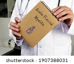 Small photo of Health care concept about Acute Flaccid Myelitis with inscription on the page.