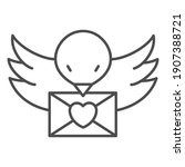 Bird Carries A Love Letter Thin ...