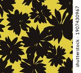 floral background with daisies. ... | Shutterstock .eps vector #1907430967