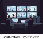 security room. two male... | Shutterstock .eps vector #1907447944