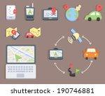 flat design   map and navigator ... | Shutterstock .eps vector #190746881