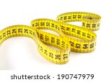 yellow measuring tape isolated... | Shutterstock . vector #190747979